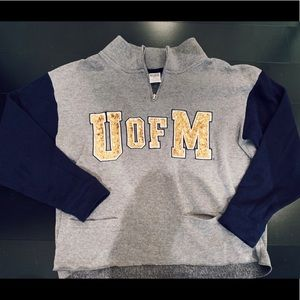 University of Michigan Pull Over Sweatshirt